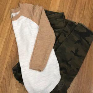 J Crew sweater XS light weight 52% linen